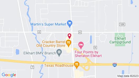 Hilton Garden Inn Elkhart Map