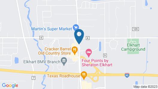 Econo Lodge Elkhart Map