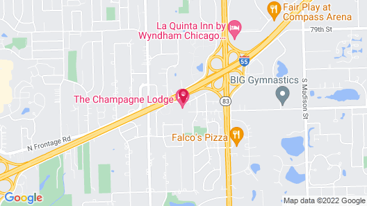 The Champagne Lodge & Luxury Suites Map