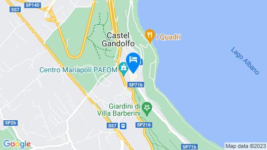 Hotel Castelgandolfo Map