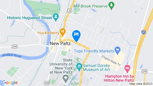 New Paltz Hostel Map