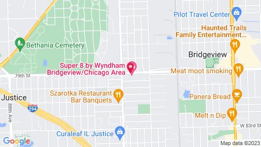 Super 8 by Wyndham Bridgeview/Chicago Area Map