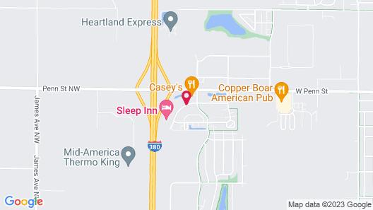 Sleep Inn North Liberty Map