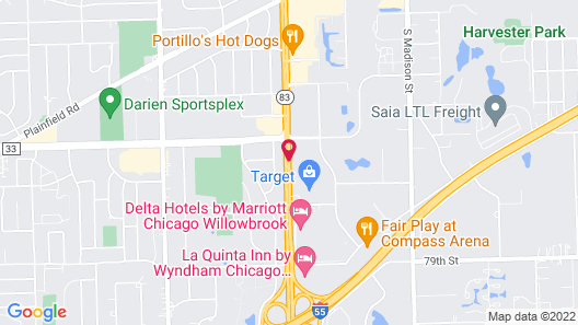 Red Roof Inn PLUS+ Chicago - Willowbrook Map