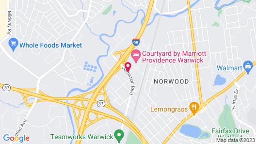 Motel 6 Warwick, RI - Providence Airport - I-95 Map