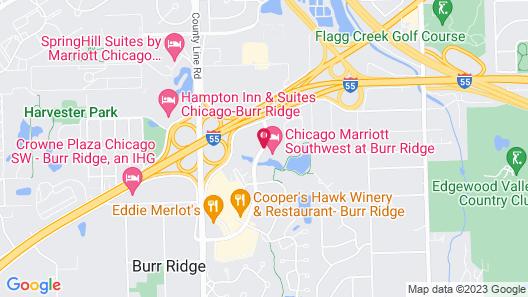 Chicago Marriott Southwest at Burr Ridge Map