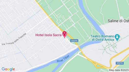 Hotel Isola Sacra Rome Airport Map