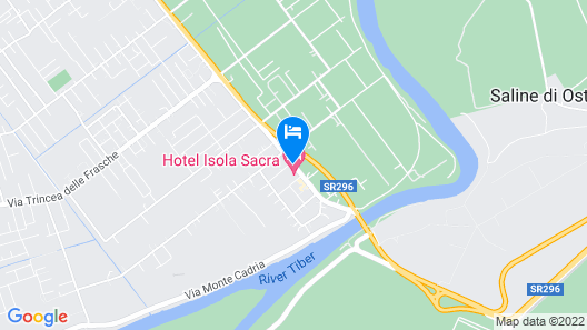 Hotel Isola Sacra Rome Airport Map
