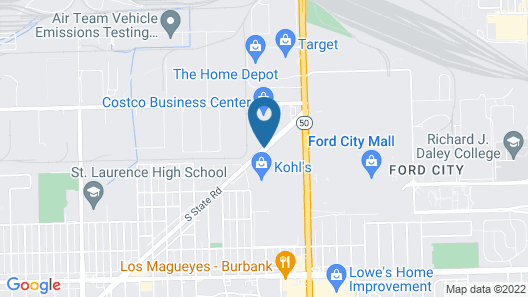 Extended Stay America Chicago - Midway Map