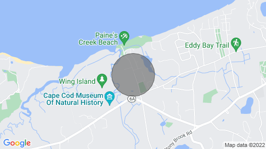 Cape Cod Cottage Within Walking Distance to Paines Creek Bay Beach Map