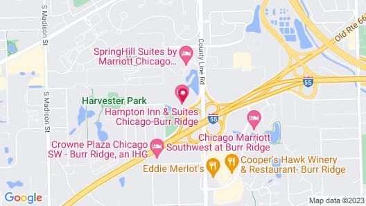 Hampton Inn & Suites Chicago-Burr Ridge Map