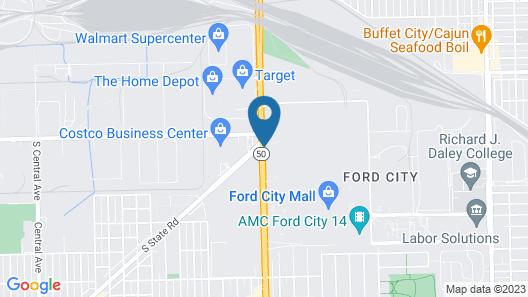 Holiday Inn Chicago Mall Area Mdw Arpt S, an IHG Hotel Map