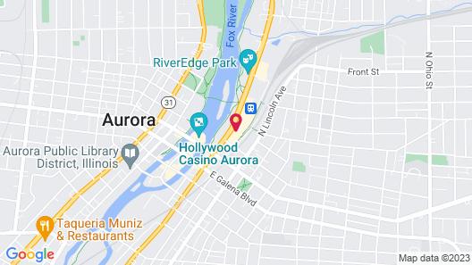 Holiday Inn Express & Suites Aurora - Naperville, an IHG Hotel Map
