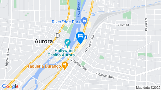 Holiday Inn Express & Suites Aurora - Naperville Map