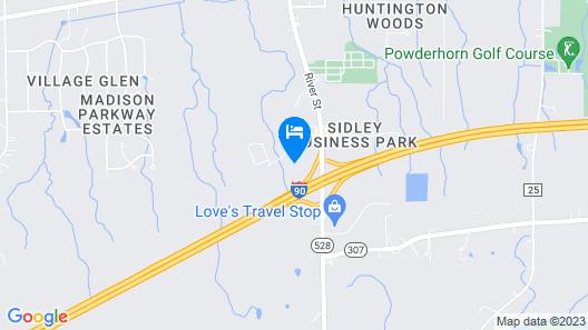 Hampton Inn Madison Map
