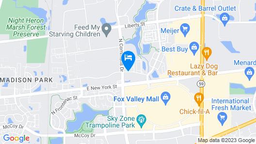 Quality Inn Aurora - Naperville Area Map