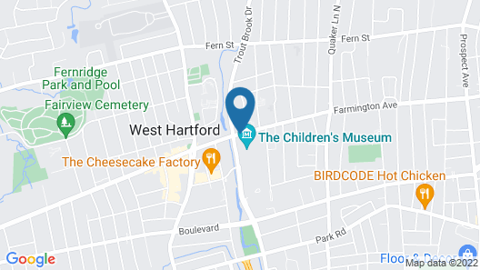 West Hartford Inn Map