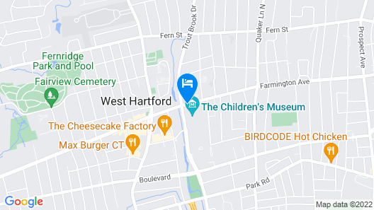 West Hartford Inn Map
