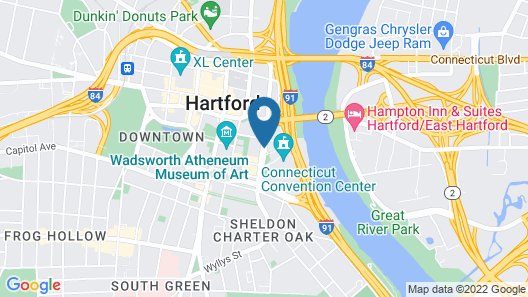 Marriott Hartford Downtown Map