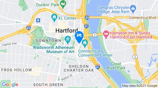 Marriott Hartford Downtown Map
