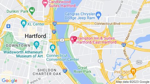 Hampton Inn & Suites Hartford/East Hartford Map