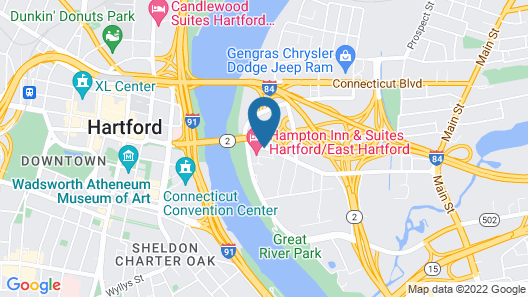 Hampton Inn & Suites Hartford/East Hartford Map