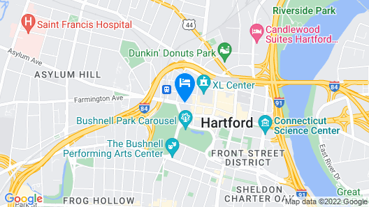 Homewood Suites by Hilton Hartford Downtown Map