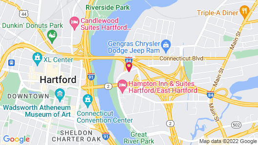 Holiday Inn Hartford Downtown Area, an IHG Hotel Map