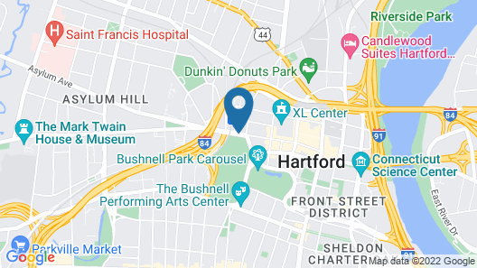 Red Roof Inn Plus+ Hartford Downtown Map