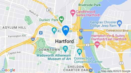 Residence Inn by Marriott Hartford Downtown Map