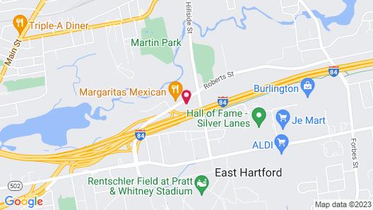 Ramada East Hartford Map