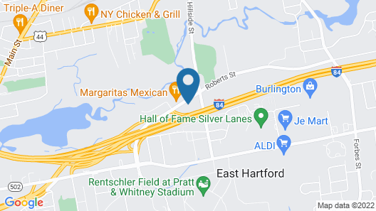 Ramada East Hartford Map