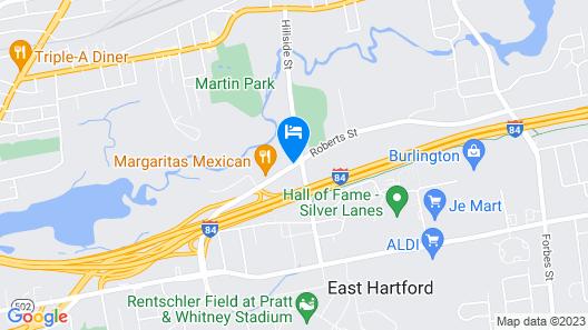 Comfort Inn & Suites East Hartford - Hartford Map