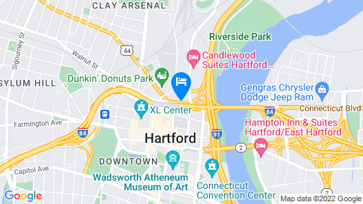 Red Lion Hotel Hartford Map