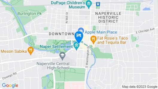 Hotel Indigo Naperville Riverwalk Map