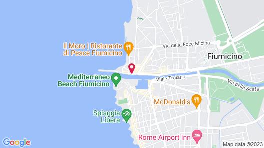 Hotel Tiber Fiumicino Map