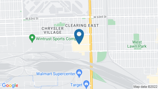 DoubleTree by Hilton Chicago Midway Airport Map