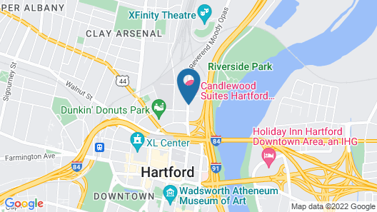 Candlewood Suites Hartford Downtown, an IHG Hotel Map