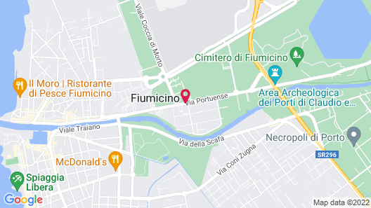 Best Western Hotel Rome Airport Map