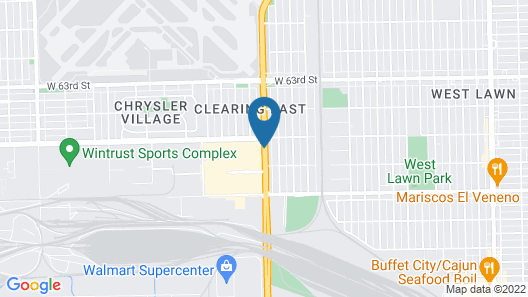 Hampton Inn by Hilton Chicago-Midway Airport Map