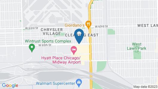 Hilton Garden Inn Chicago/Midway Airport Map