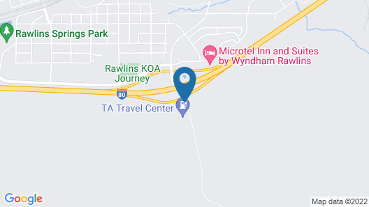 Americas Best Value Inn Rawlins Map