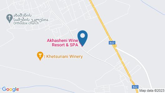 Akhasheni Wine Resort and Spa Map