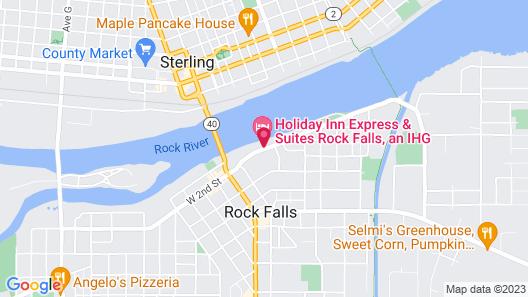 Holiday Inn Express & Suites Rock Falls, an IHG Hotel Map