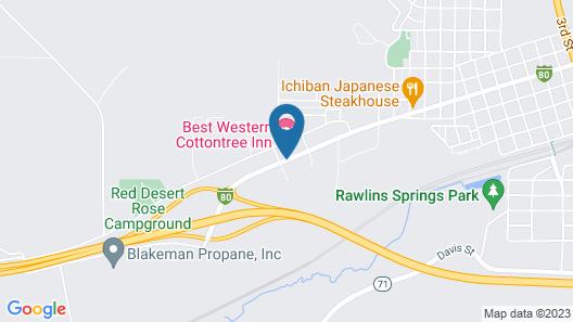 Best Western CottonTree Inn Map