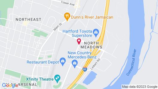 Travel Inn Motel Map