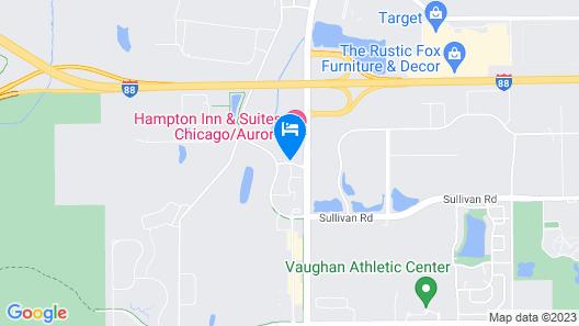 Hampton Inn & Suites Chicago/Aurora Map