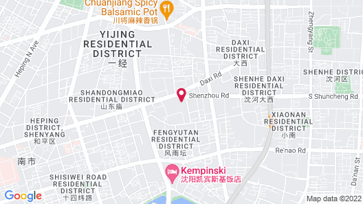 Shenyang Qing Dynasty Culture Theme Hotel Map