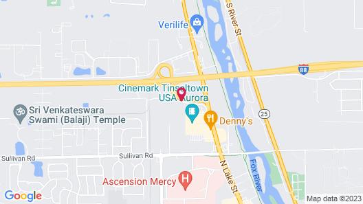 Comfort Inn & Suites North Aurora - Naperville Map