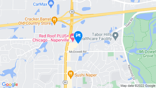 Extended Stay America - Chicago - Naperville - West Map